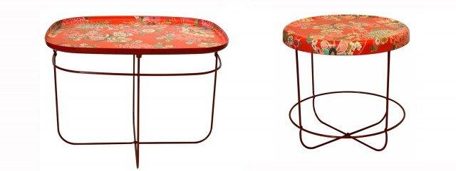 I piani dei tavoli della collezione T-Ukiyo di Moroso, sono decorati da motivi floreali, ispirati ai tradizionali kimono giapponesi. I toni vivaci mettono in risalto i disegni delicati dei fiori, delle piante, delle farfalle. Questo tavolino d'appoggio è multiuso: comodino, tavolino, da divano ed è composto da una struttura in acciaio verniciato rosso sormontato da un piano rettangolare o tondo. Due i motivi: Pop Orange (toni arancio) o Paradise Purple (toni viola). Misurano rispettivamente L 55 x H 45 cm; Ø 42 x H 45 cm. Prezzo a partire da 311 euro. www.moroso.it