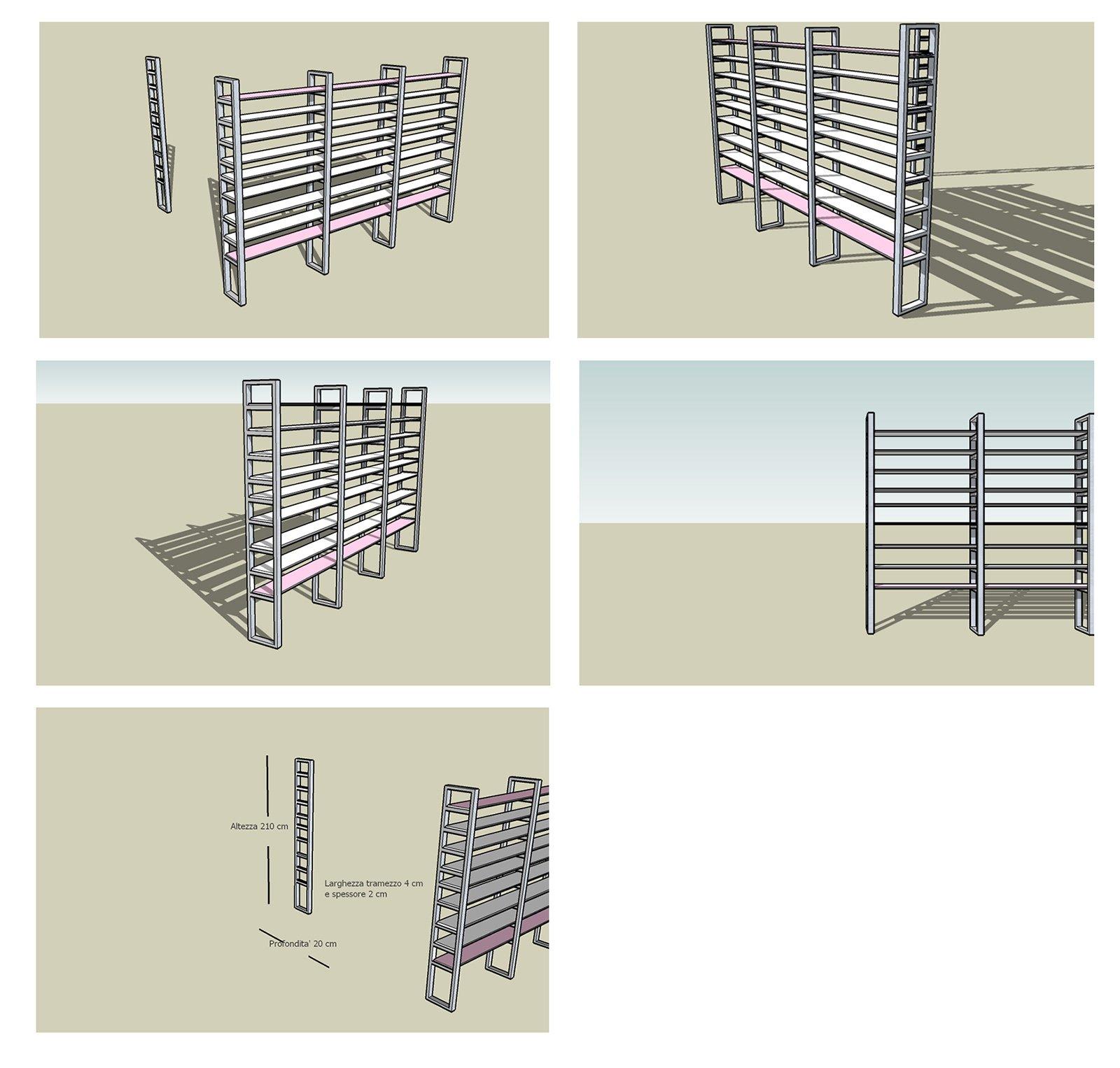 La videoteca libreria in ferro zincato e legno cose di casa - Progetto casa fai da te ...