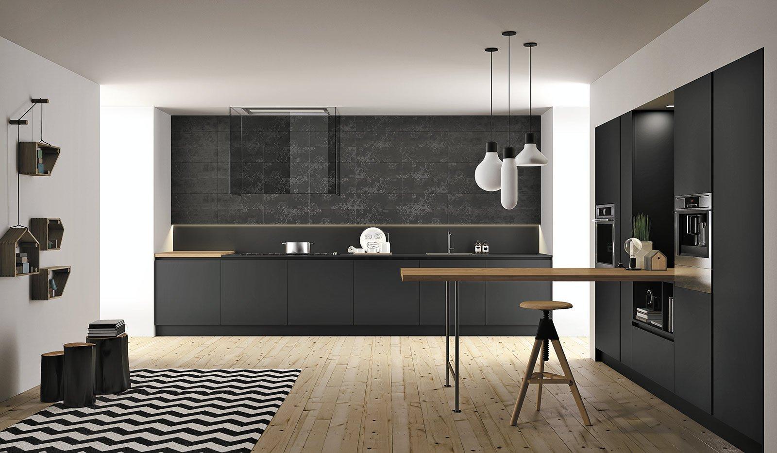 Del Mobile 2014: Mix Di Materiali Per Le Nuove Cucine Cose Di Casa #76644B 1600 933 Immagini Di Cucine Moderne Piccole