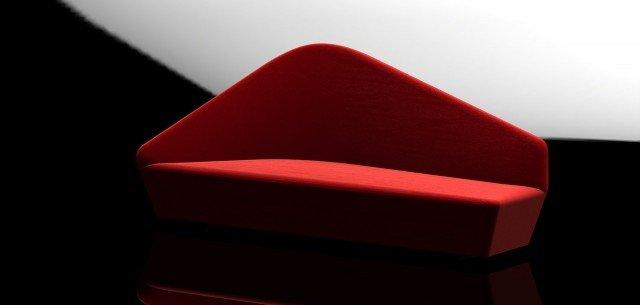 Uno stile originale e una silhouette indimenticabile per il divano rosso lacca, compatto e in grado di focalizzare l'attenzione: un nuovo pezzo- icona dall'estetica inconfondibile. Lo schienale asimmetrico e sinuoso connota l'intera struttura. Verlaine di Driade. www.driade.it