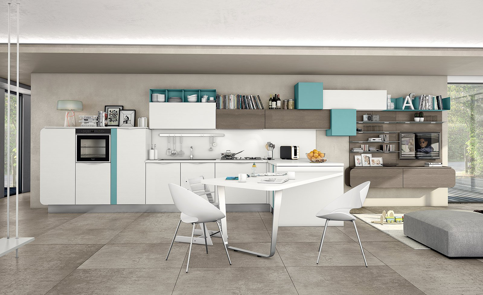 Salone del mobile 2014 mix di materiali per le nuove - Cucine e living ...
