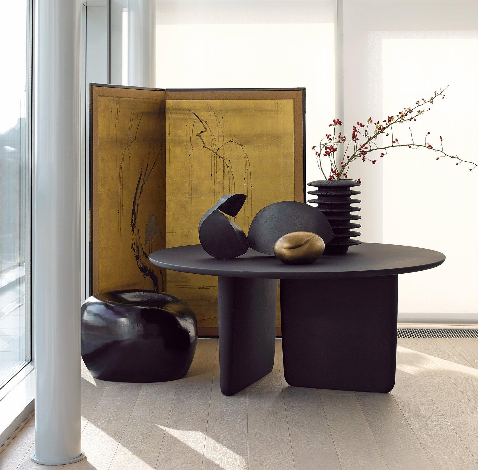 tavoli rotondi e ovali: design morbido, minimal, dinamico - cose ... - Tavolo Rotondo Moderno Design