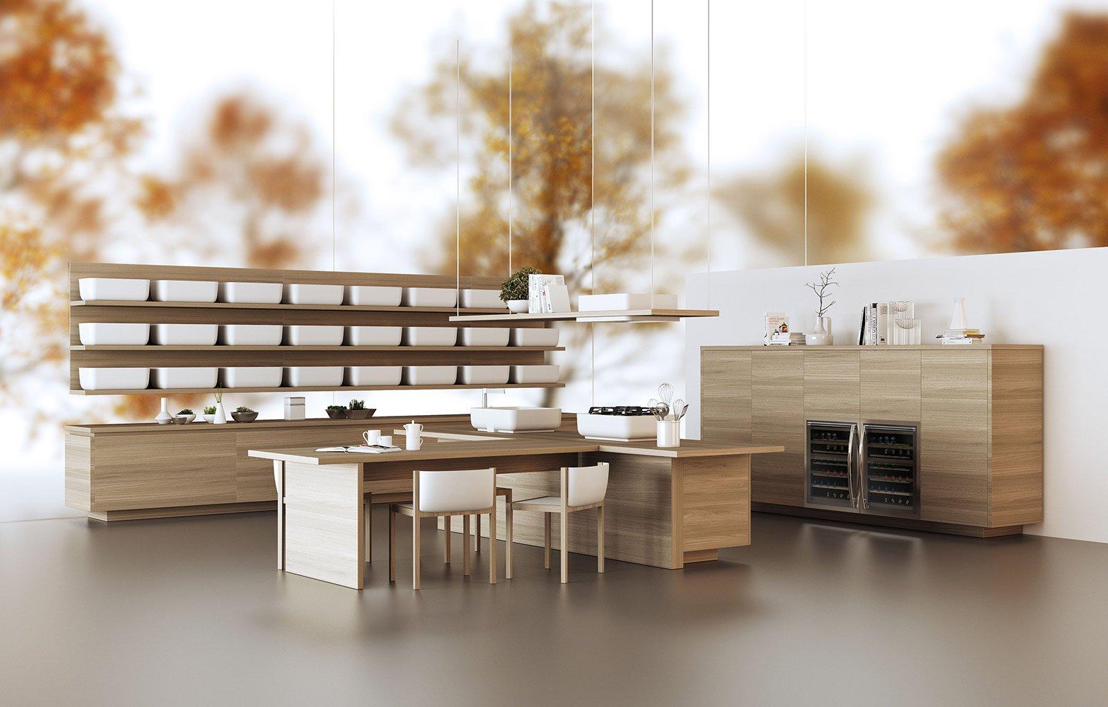eurocucina 2014: tendenza legno in primo piano - cose di casa - Cucinare Giapponese