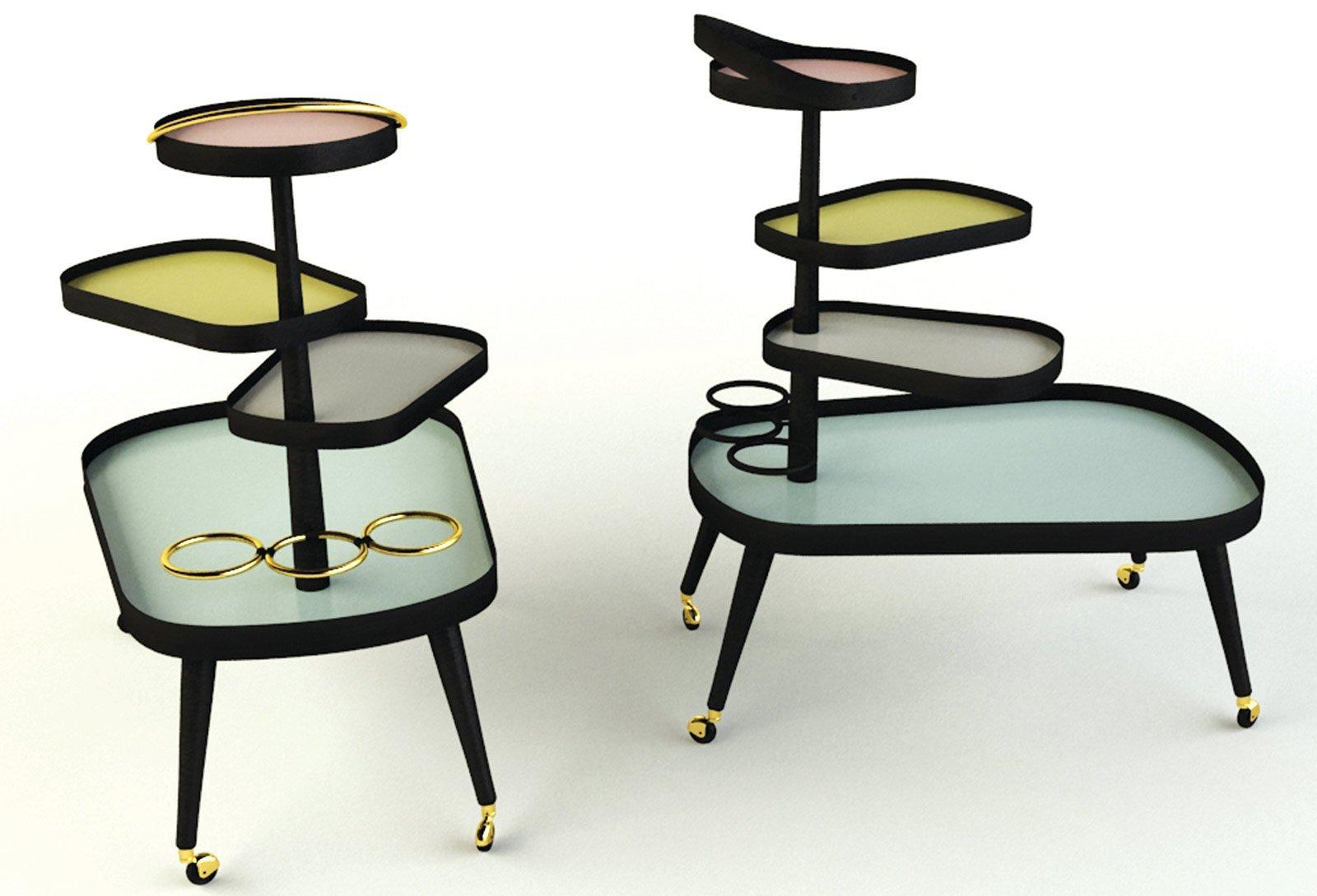 Tavolini per il soggiorno tendenze dal salone del mobile - Tavolini vetro e ottone ...