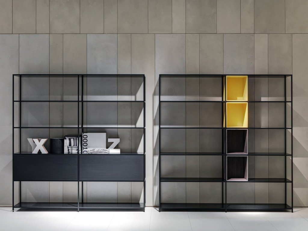 salone del mobile 2014 le nuove librerie e pareti attrezzate cose di casa. Black Bedroom Furniture Sets. Home Design Ideas