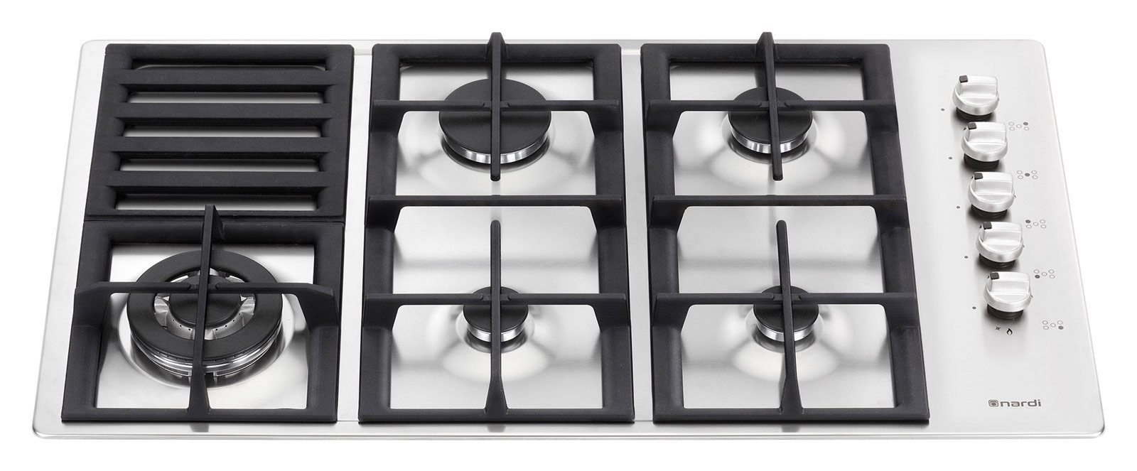 Piani cottura a gas cose di casa for Piano cottura 5 fuochi vetro