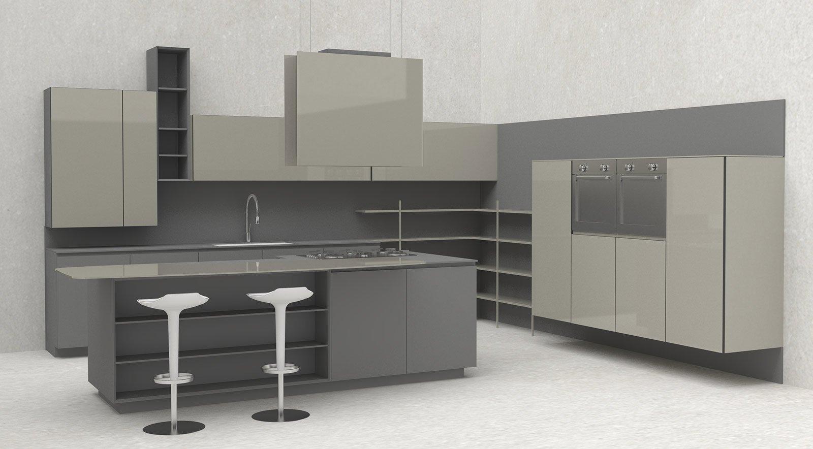 Pensili Cucina Laccati : Salone del mobile mix di materiali per le nuove cucine cose casa