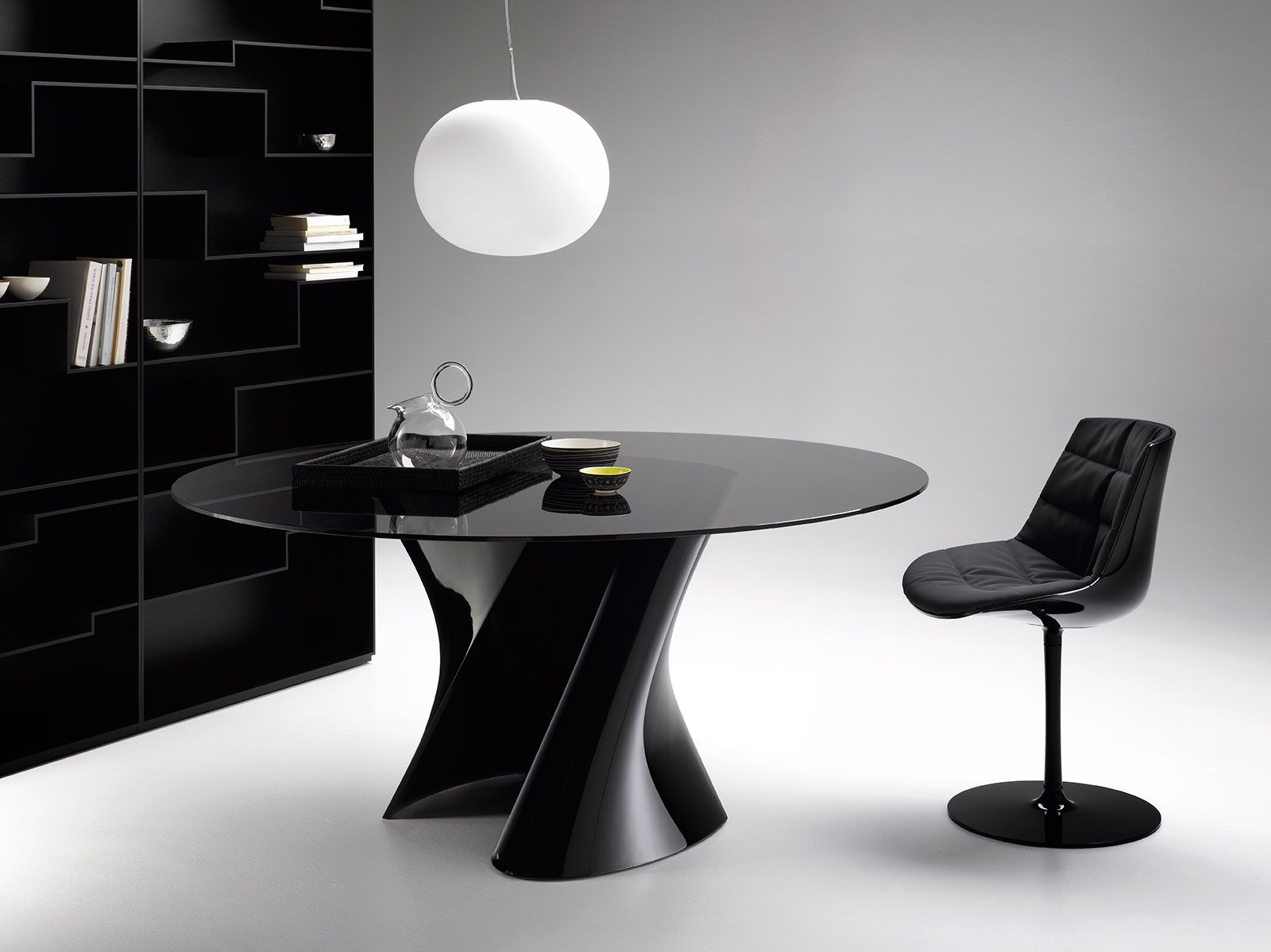 tavoli rotondi e ovali: design morbido, minimal, dinamico - cose ... - Tavoli Rotondi Allungabili Bianchi