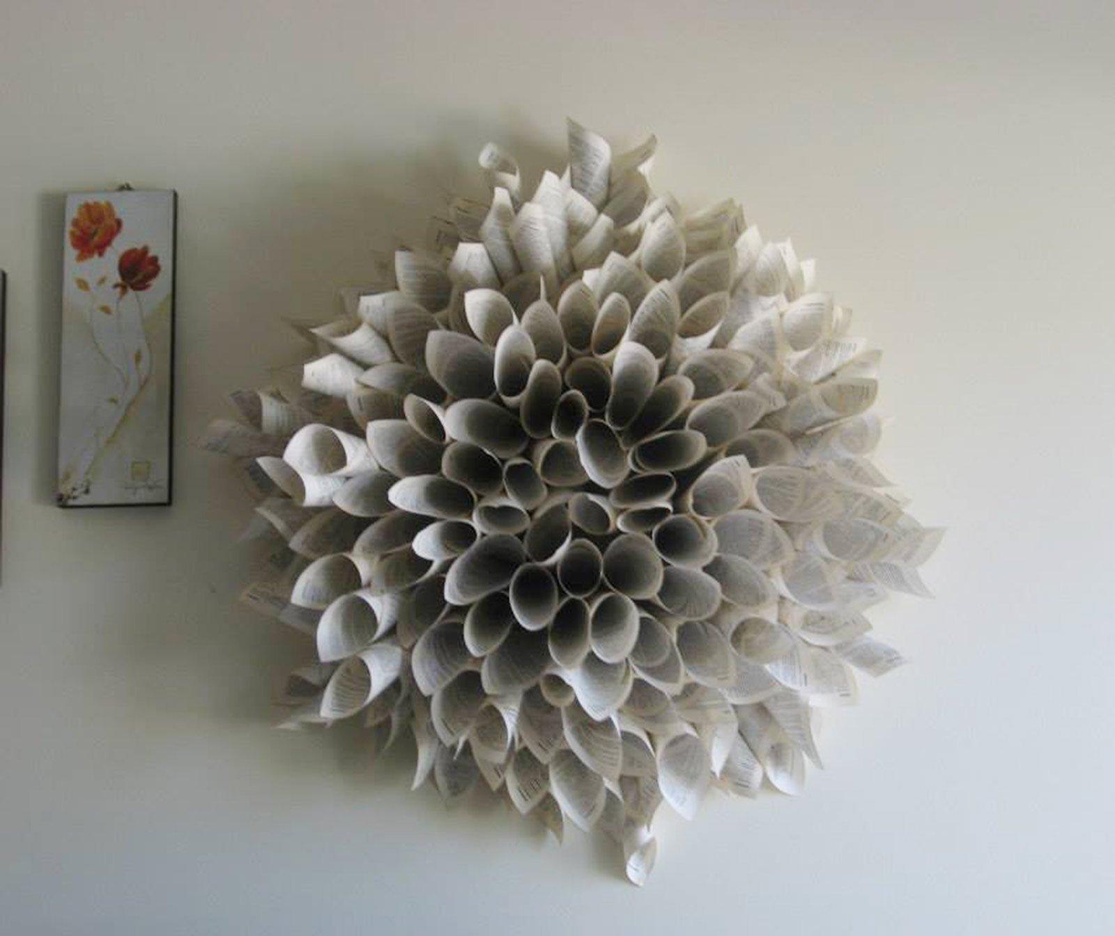 Ghirlanda di carta come cornice o decoro cose di casa - Specchio per valutazione posturale ...