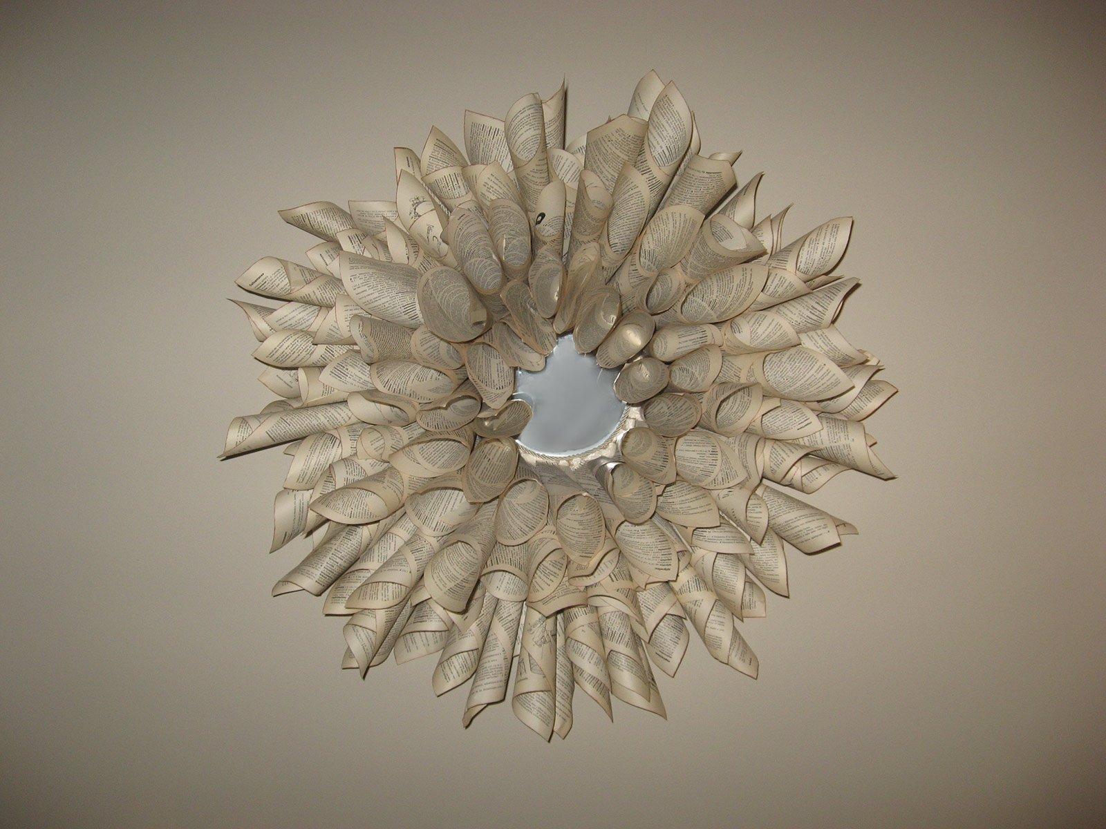 Ghirlanda di carta come cornice o decoro cose di casa - Specchio con lampade intorno ...