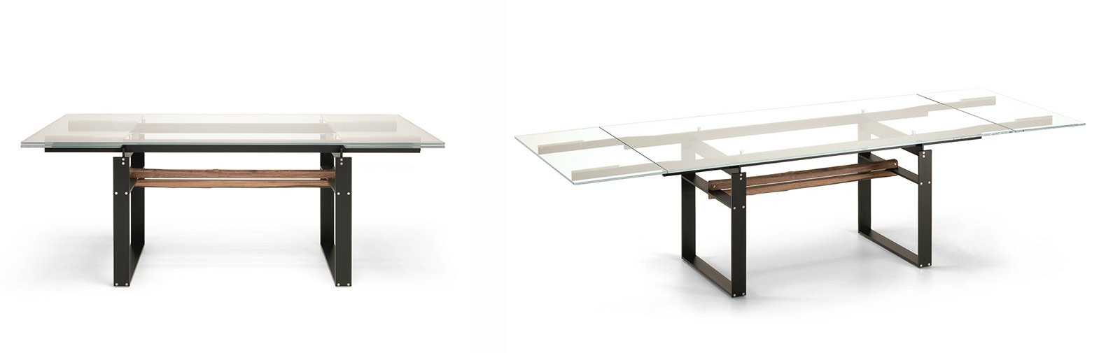 Tavoli di cristallo allungabili tavolo mago di bontempi - Tavoli in cristallo allungabili ...