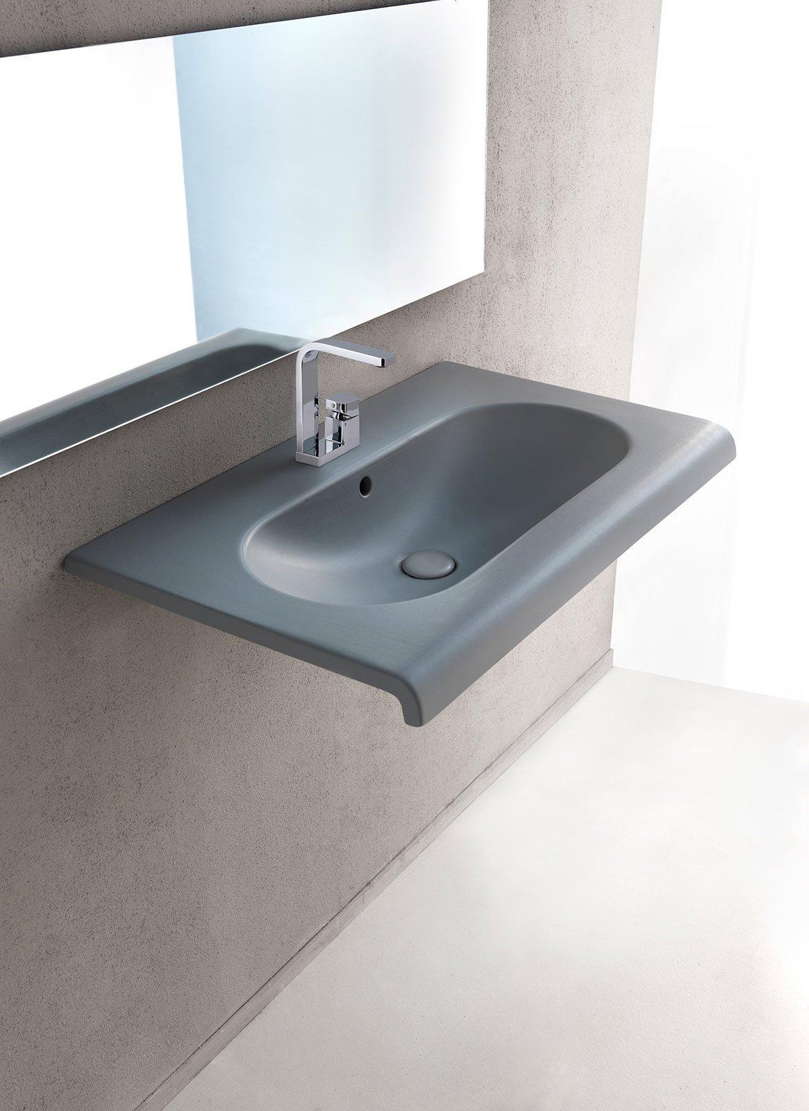 Lavandino Bagno Con Piede lavabi e lavamani bagno sospesi, a colonna, da appoggio