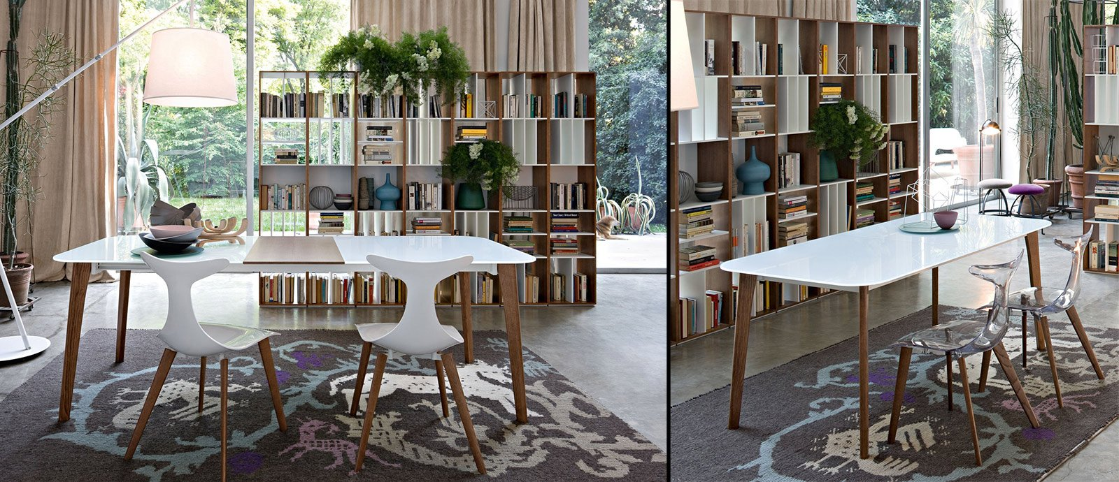 Tavoli allungabili cose di casa for Tavolo cristallo e legno