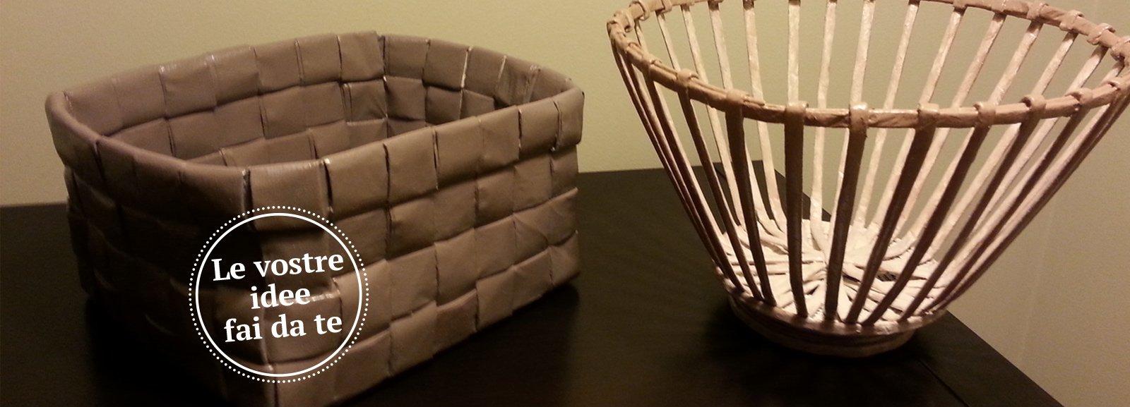 Con carta di riciclo cestini ciotole e vasi decorativi for Rimodernare casa fai da te
