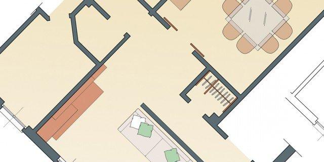 Pareti da oblique a ortogonali per spazi più fruibili