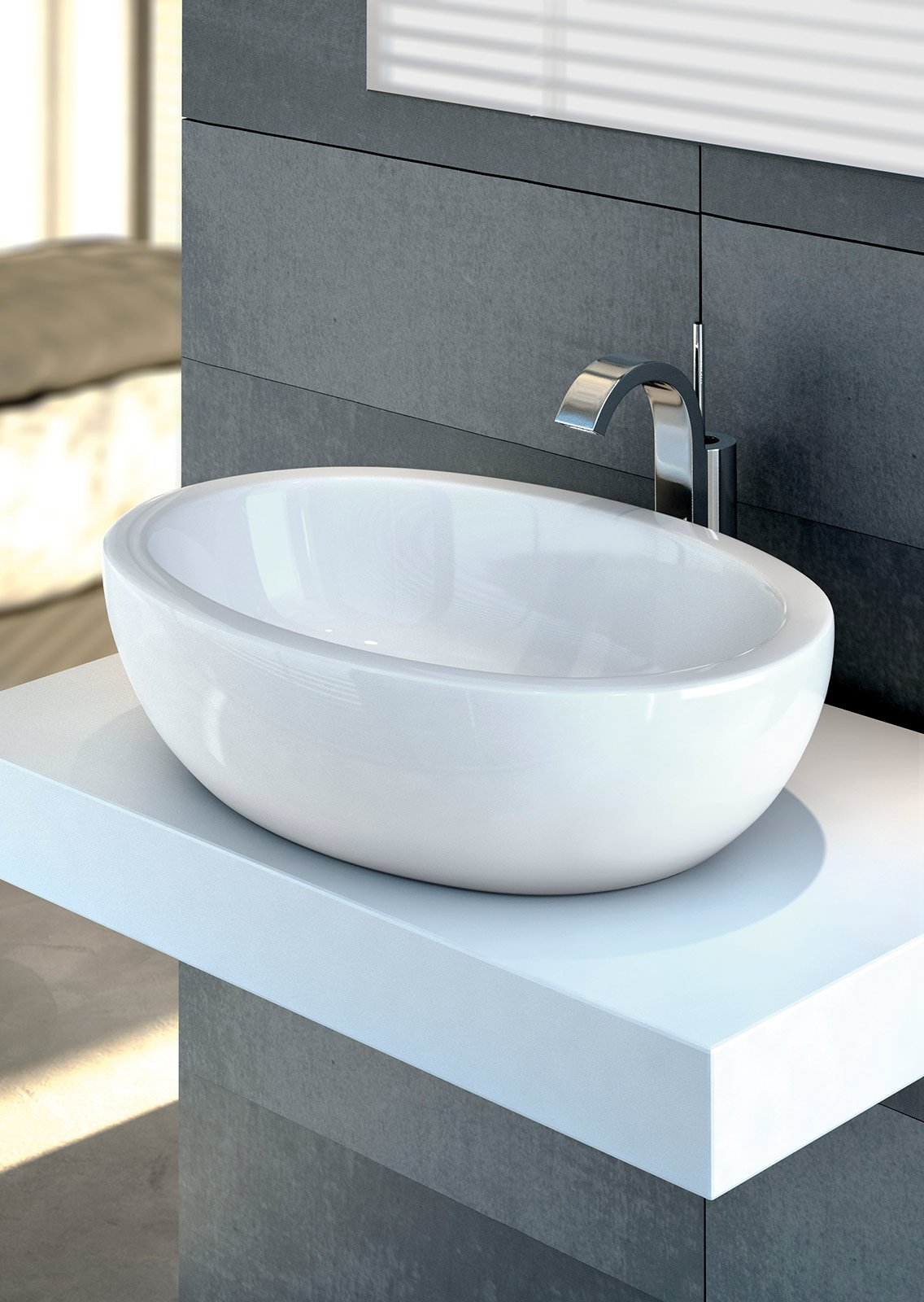 Piano Per Lavabo Da Appoggio lavabi e lavamani bagno sospesi, a colonna, da appoggio