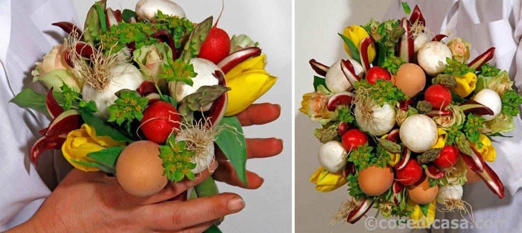 Mazzo Di Fiori E Verdure.Per Pasqua Un Mazzo Di Fiori E Verdure Fai Da Te Cose Di Casa