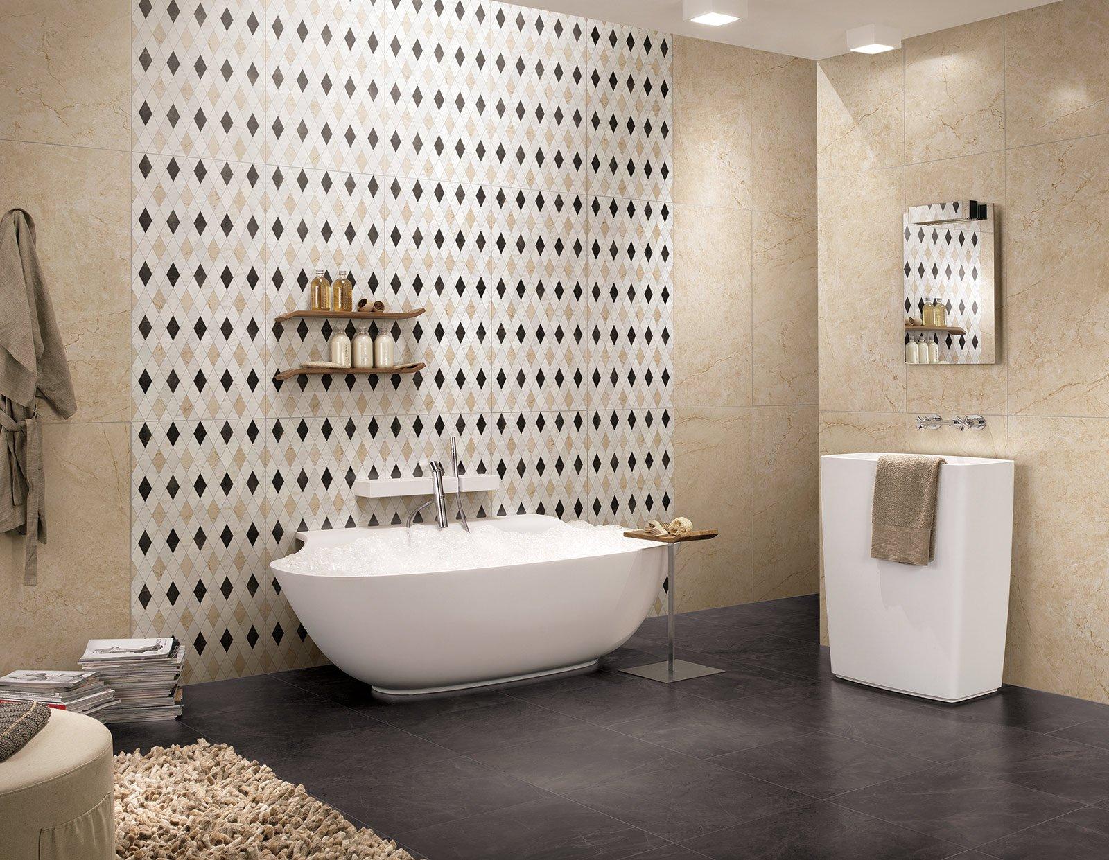 Piastrelle rivestimenti d effetto a parete cose di casa - Pannelli per coprire piastrelle bagno ...