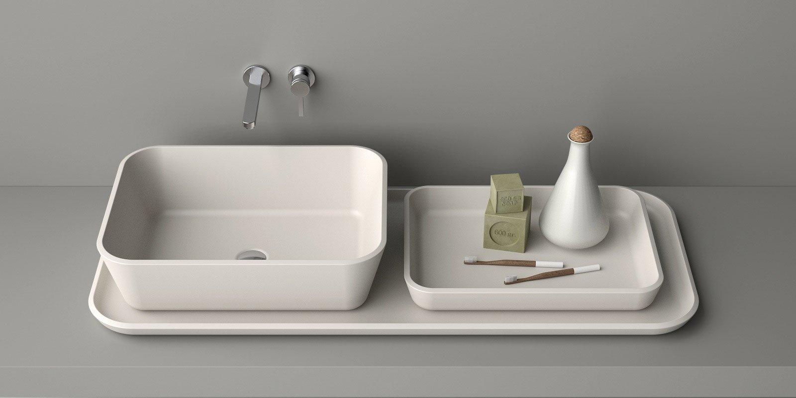Il nuovo lavabo d 39 appoggio cose di casa - Piano d appoggio per lavabo ...