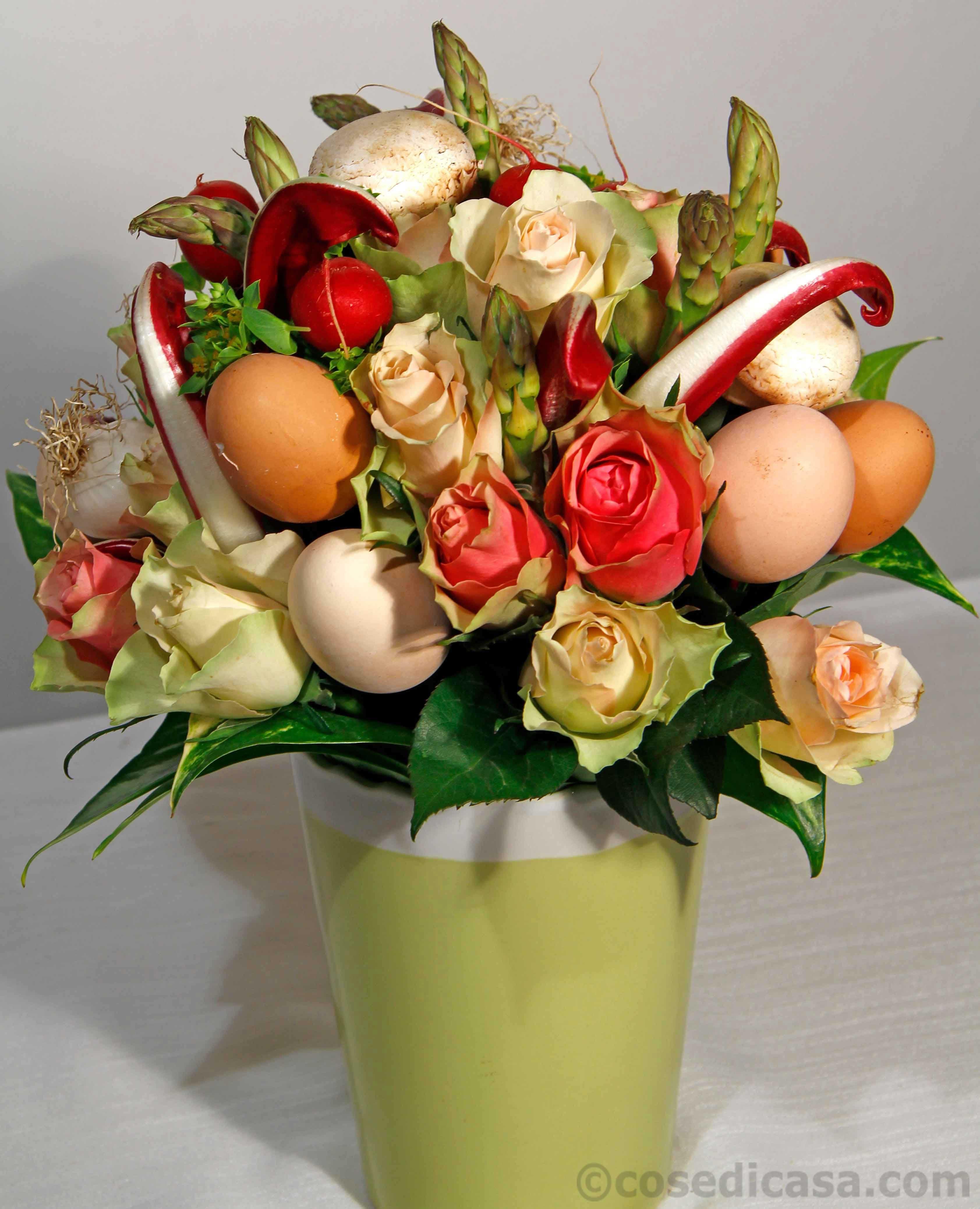 Piante Da Regalare A Pasqua per pasqua, un mazzo di fiori e verdure fai da te - cose di casa
