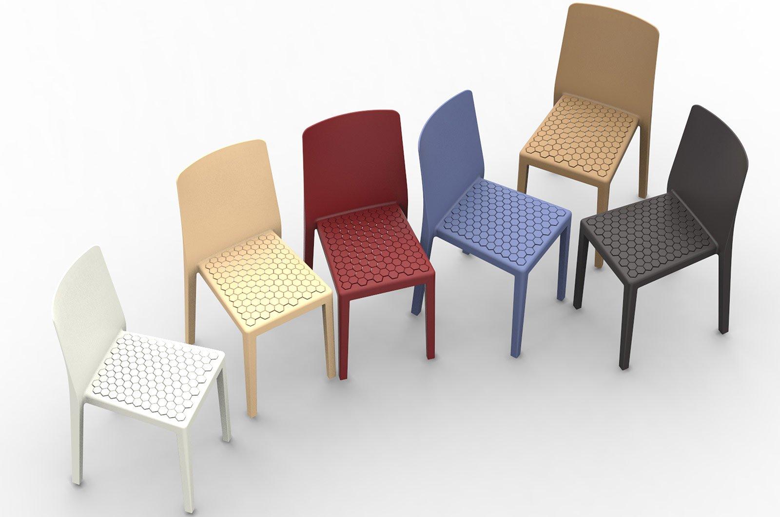 Salone del mobile 2014 superfici lavorate o colorate per for Calligaris sedie