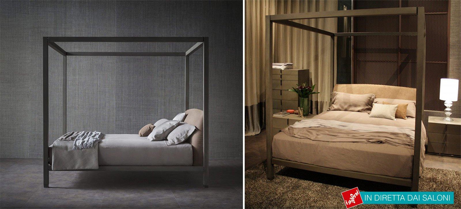 Salone del mobile 2014 letti minimal con struttura sottile cose di casa - Struttura per letto a baldacchino ...