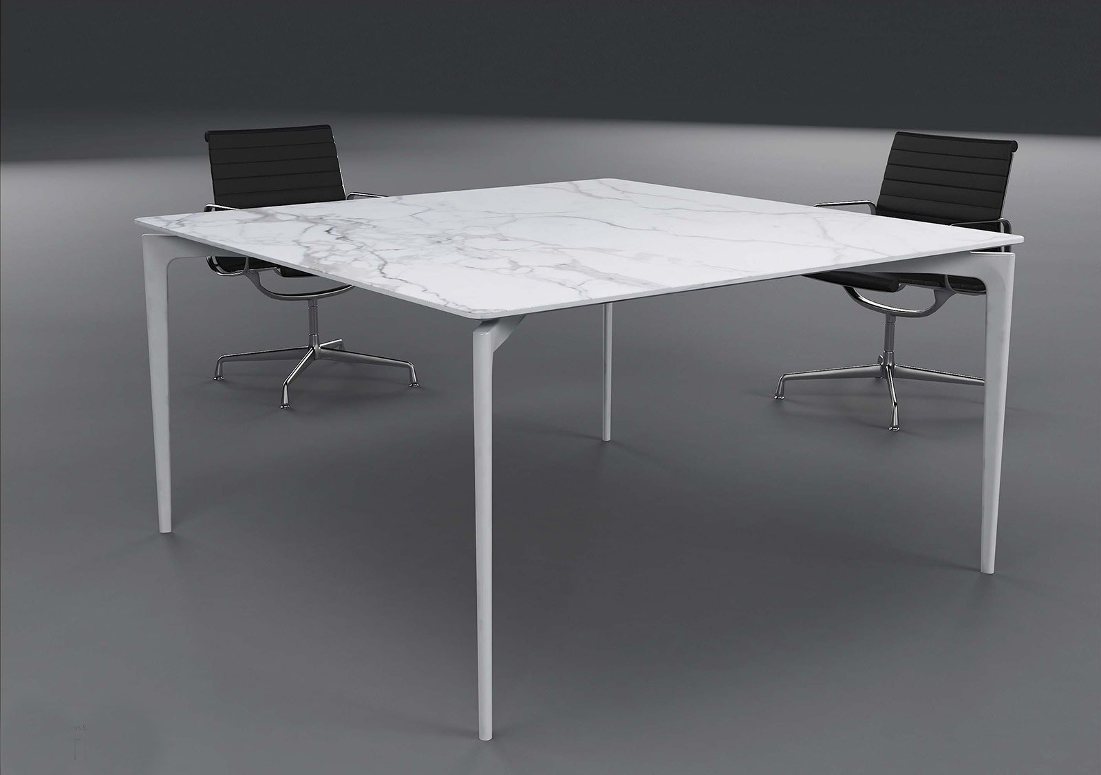 Tavoli con struttura in metallo dal salone del mobile for Tavolo salone