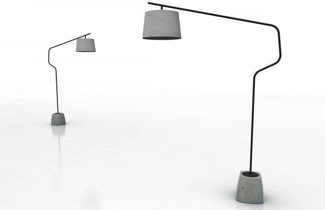 Una solida base in calcestruzzo conferisce alla lampada Urban di Domitalia un aspetto metropolitano che la rende speciale e molto contemporaneo. Lo stelo è in metallo laccato antracite o bianco. www.domitalia.it