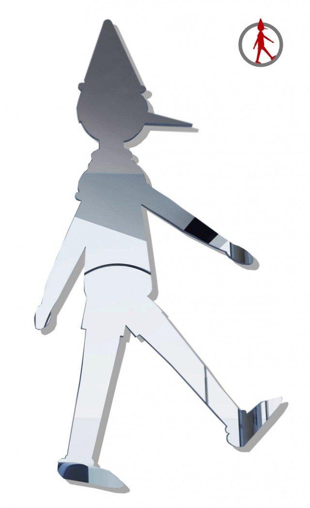 Dedicato agli amanti delle favole, ma non solo!, Pinocchio on the wall di Valsecchi1918 è inwww.valsecchi1918.itsieme uno specchio e un appendiabiti: è possibile agganciare la giacca al naso del celebre burattino www.valsecchi1918.it