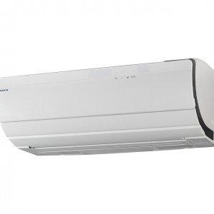 Ururu Sarara di Daikin ha funzioni di raffrescamento, riscaldamento, purificazione dell'aria, ventilazione, umidificazione e deumidificazione. Utilizza il refrigerante R32 e è disponibile nelle potenze da 6.800 a 17.000 BTU/h. E' inoltre in grado di assicurare la massima qualità dell'aria in ambiente: la funzione rinnovo aria, capace di immettere fino a 32 m3/h d'aria fresca e filtrata, ne garantisce un rinnovo completo nel locale in sole due ore. Misura L 79,8 x P 37,2 x H 29,5 cm.  Nella potenza da 6.800 BTU/h, prezzo 2.000 euro - www.daikin.it