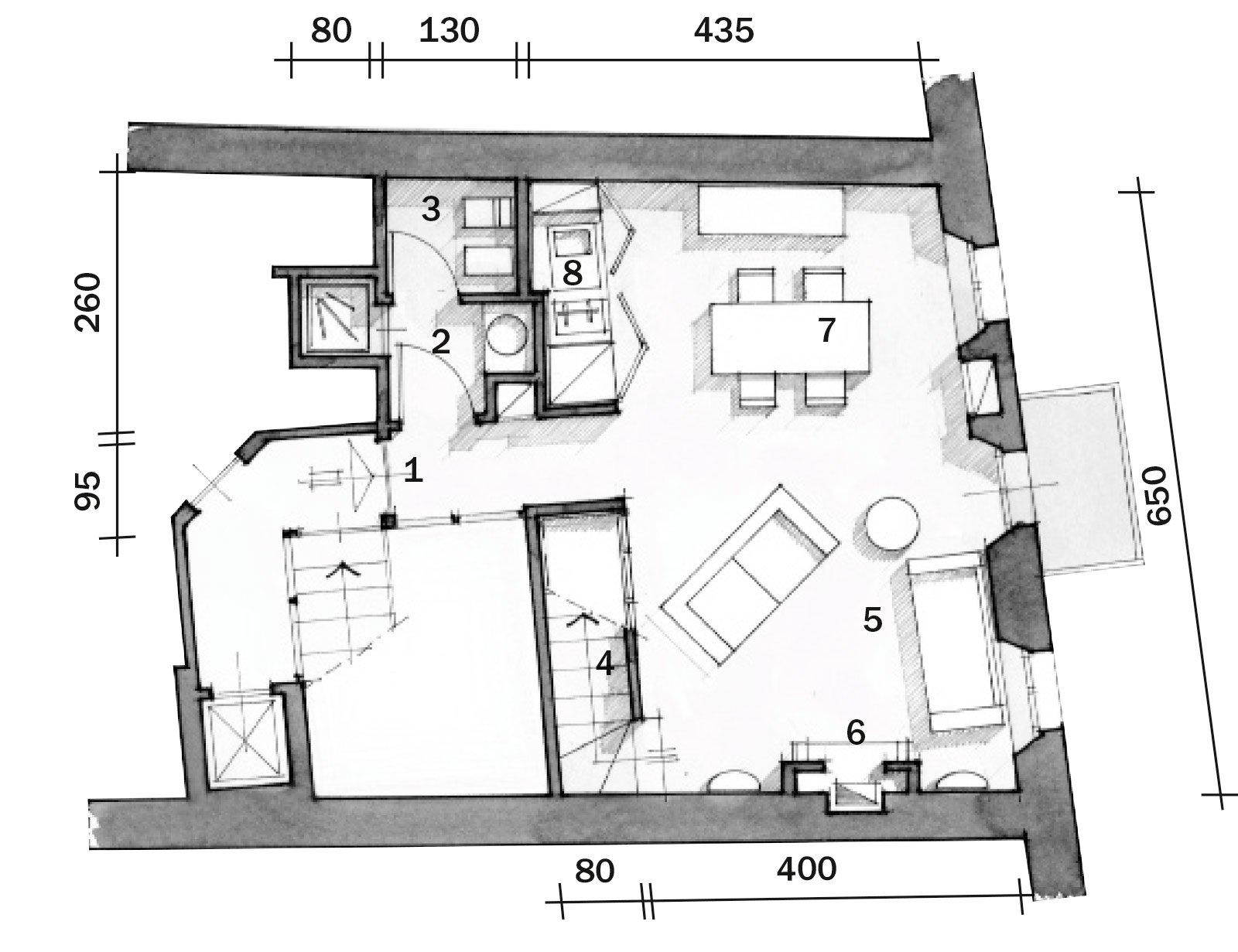 60 mq un sottotetto classico in tonalit pastello cose for Piani casa colonica di un livello