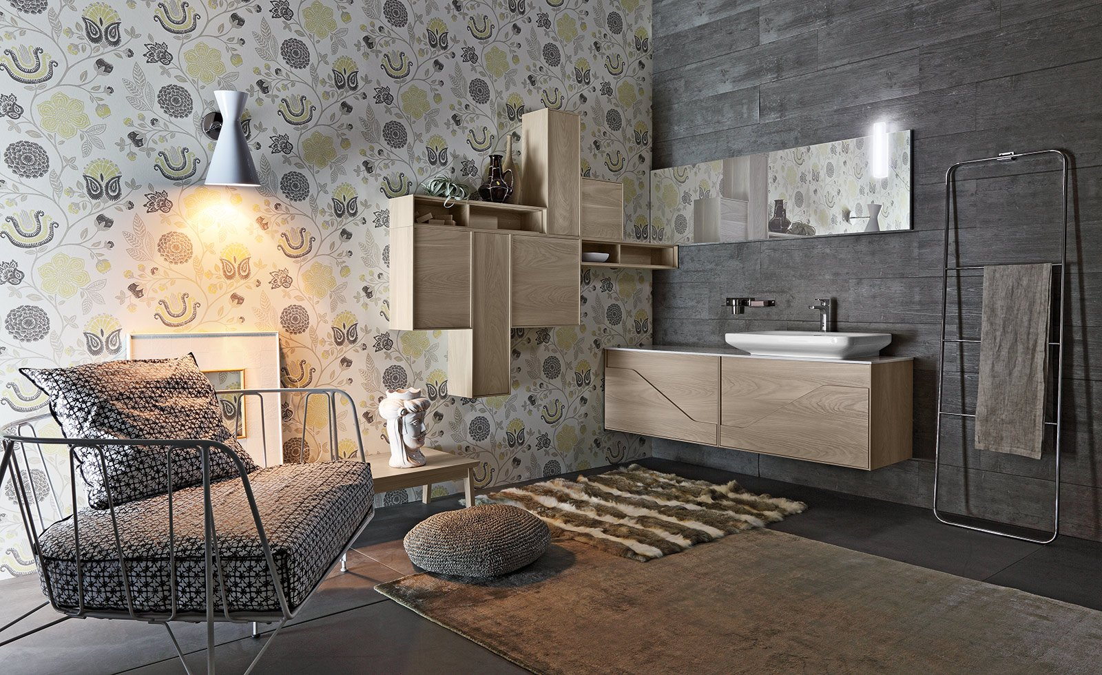 Mobile lavabo a terra sospeso ed extraslim cose di casa for Apri le foto di case di concetto