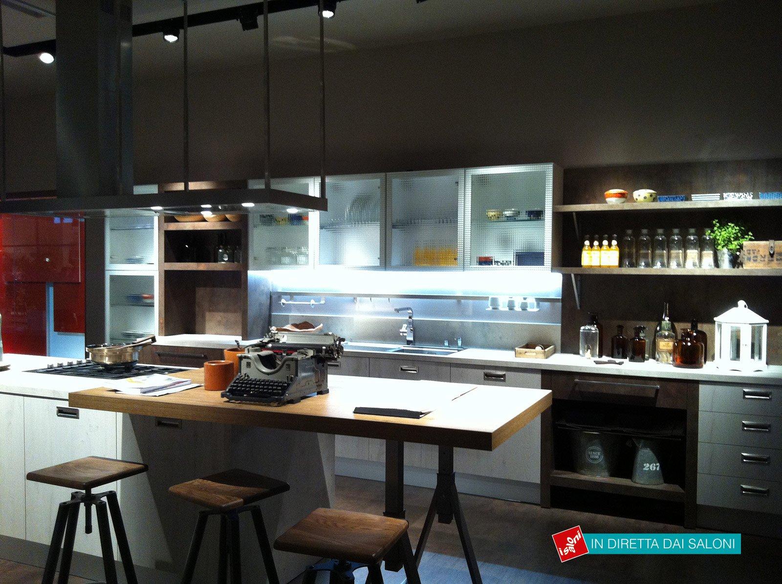 Cucina Della Collezione Ice And Sand Industrial Edition Di Febal In  #937738 1600 1195 Cucine Industriali Per Casa
