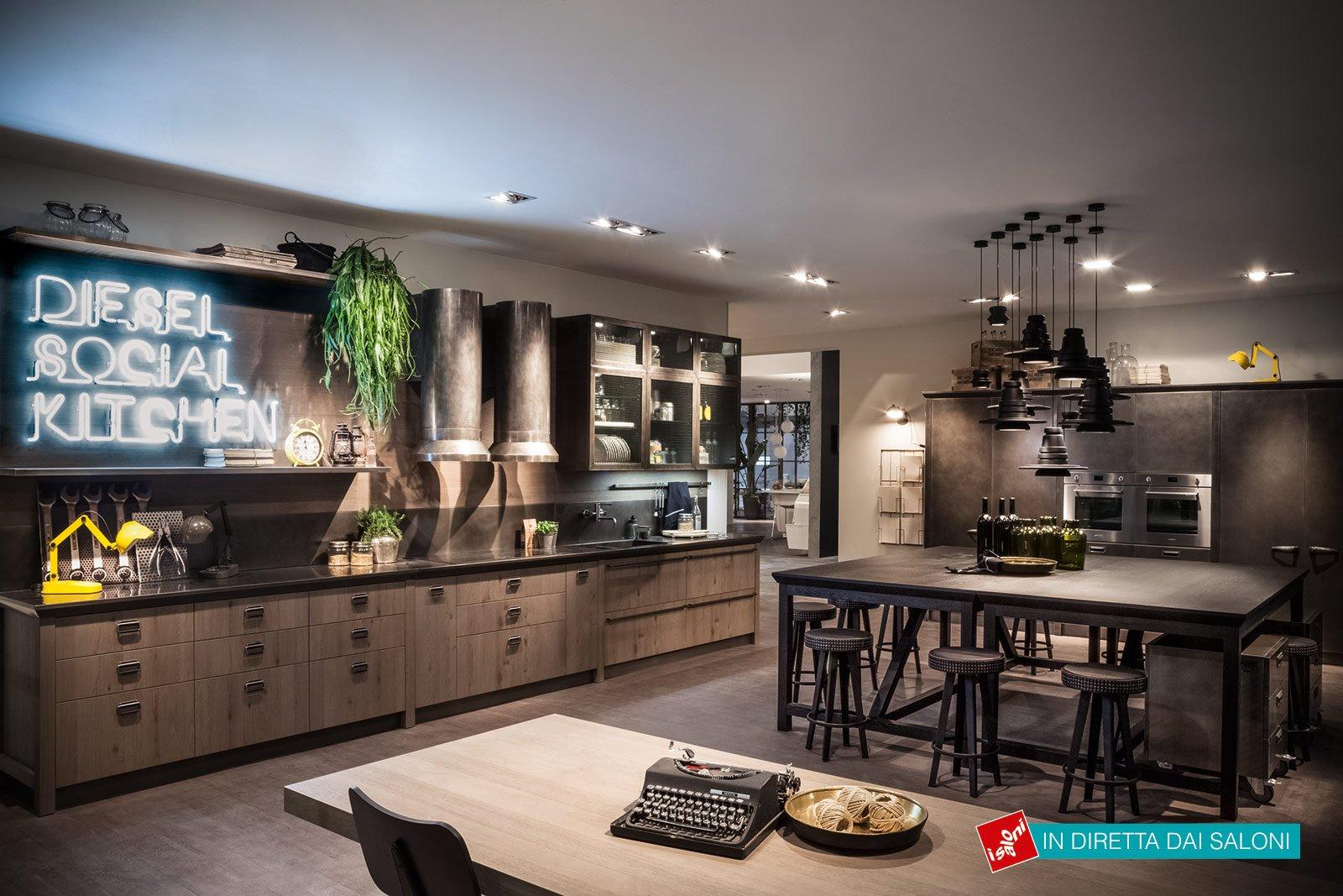 Industrial style a eurocucina 2014 cose di casa for Cucina diesel scavolini