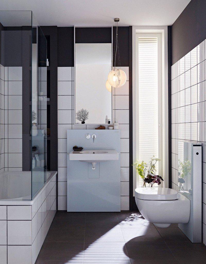 Mobile lavabo a terra sospeso ed extraslim cose di casa - Rubinetti sanitari bagno ...