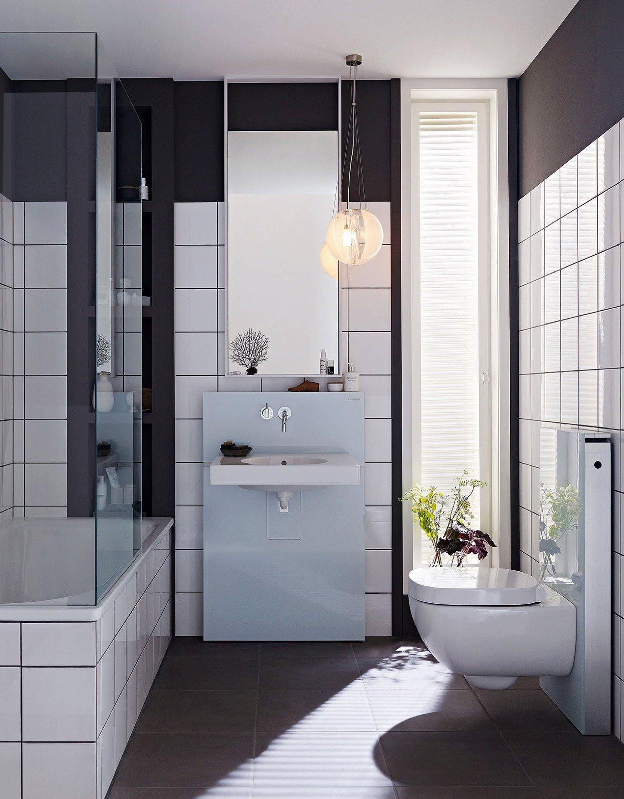 Mobile lavabo a terra sospeso ed extraslim cose di casa for Rubinetti per lavabo