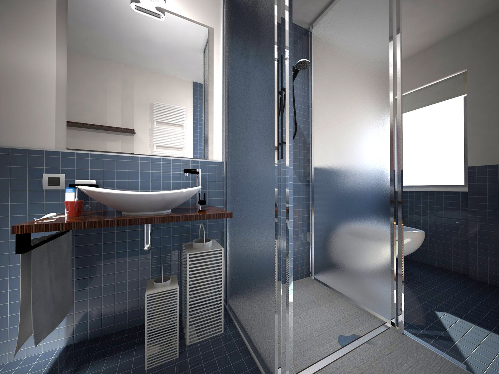 Dove metto la doccia nel bagno lungo e stretto cose di casa - Scaldare il bagno elettricamente ...