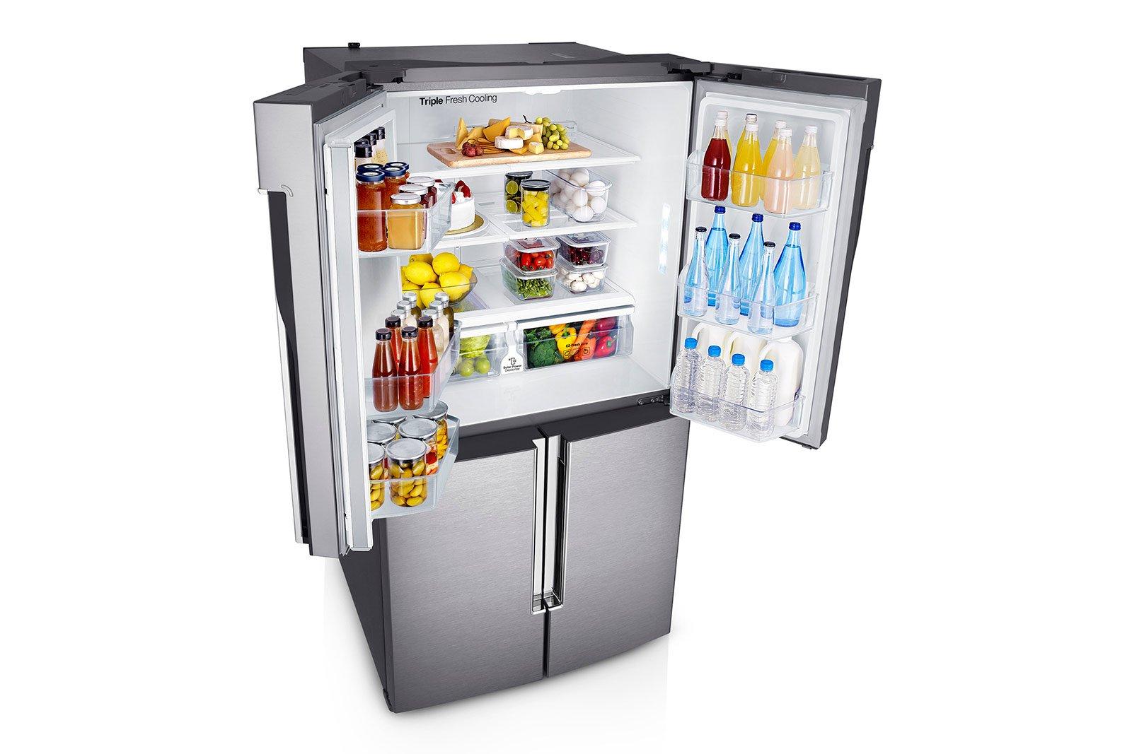 Frigo e congelatore modelli maxi a tre porte side by side cose di casa - Temperatura freezer casa ...