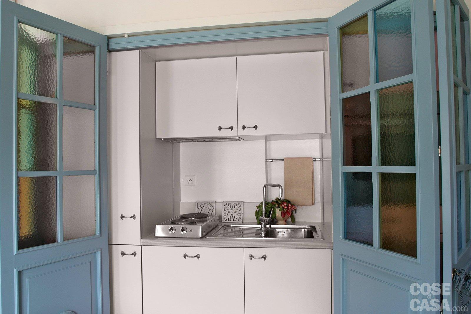 60 Mq: Una Casa In Tonalità Pastello Cose Di Casa #5C493B 1600 1065 Come Fare Carrello Da Cucina