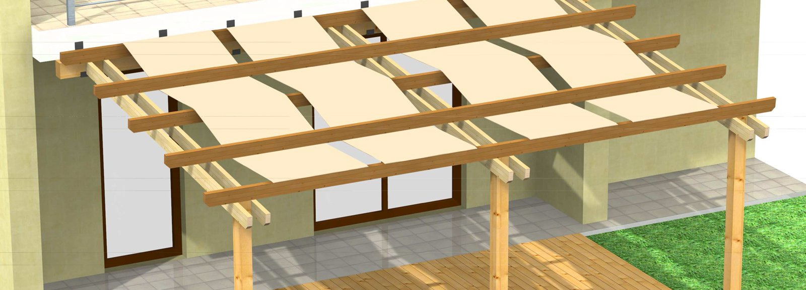 Chiudere la pergola con vetrate cose di casa for Costo per costruire un portico
