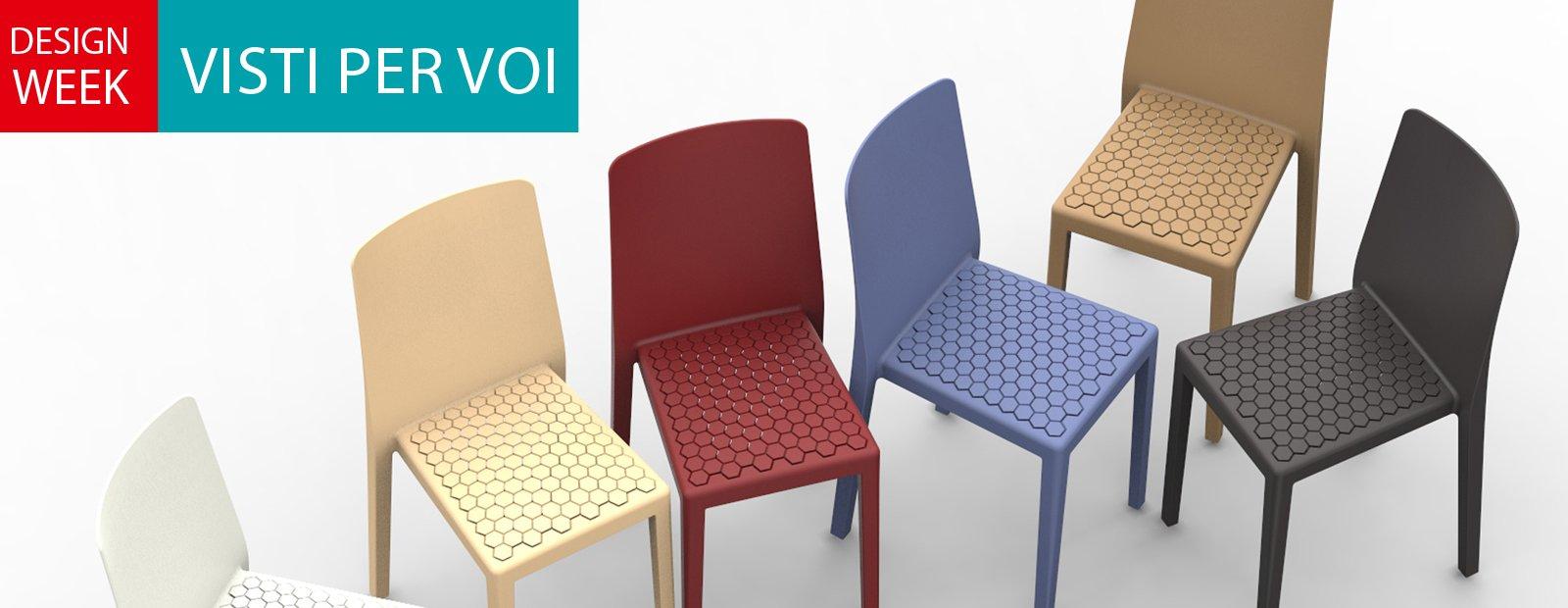 Salone del mobile 2014 superfici lavorate o colorate per for Sedie per salone