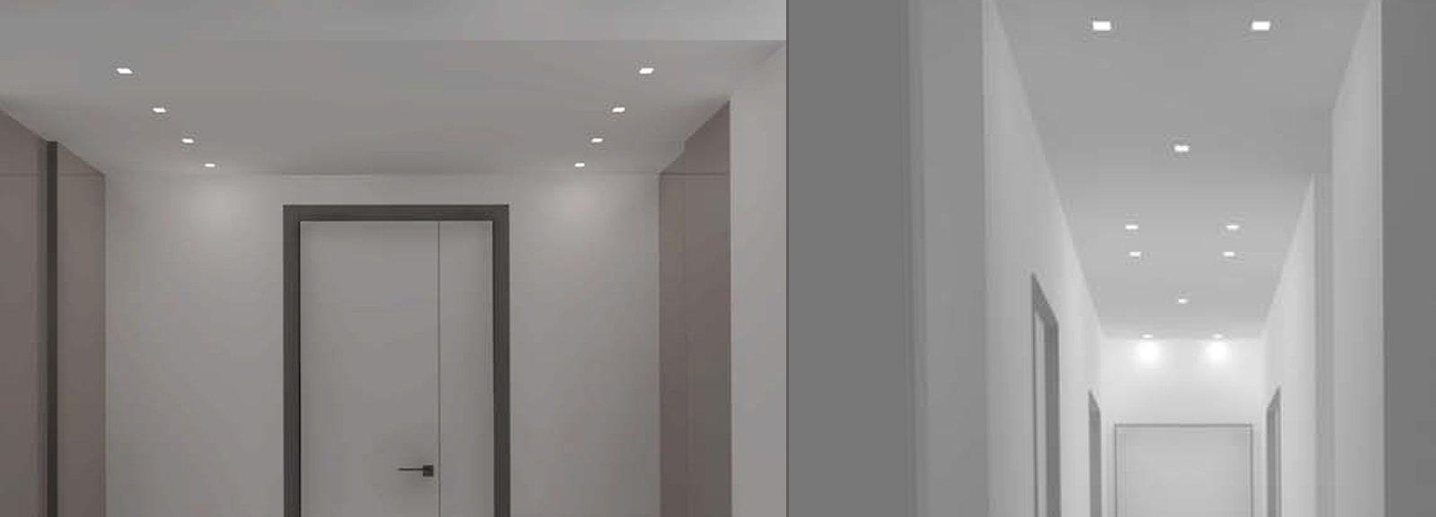 Faretti Per Corridoio: Faretto-box-led-bianco-con-1-qr111 ...