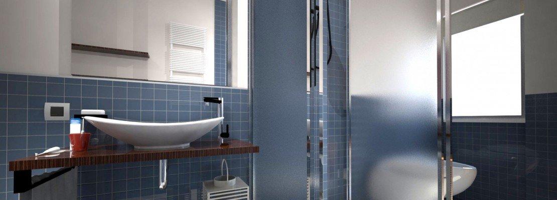 bagni con vasca sotto la finestra  canlic for ., Disegni interni
