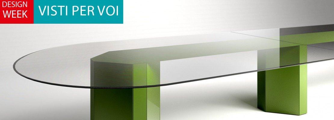 """Salone del mobile 2014: il tavolo """"giovane"""" si veste di colore ..."""