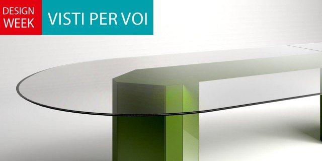 """Salone del Mobile 2014: il tavolo """"giovane"""" si veste di colore"""