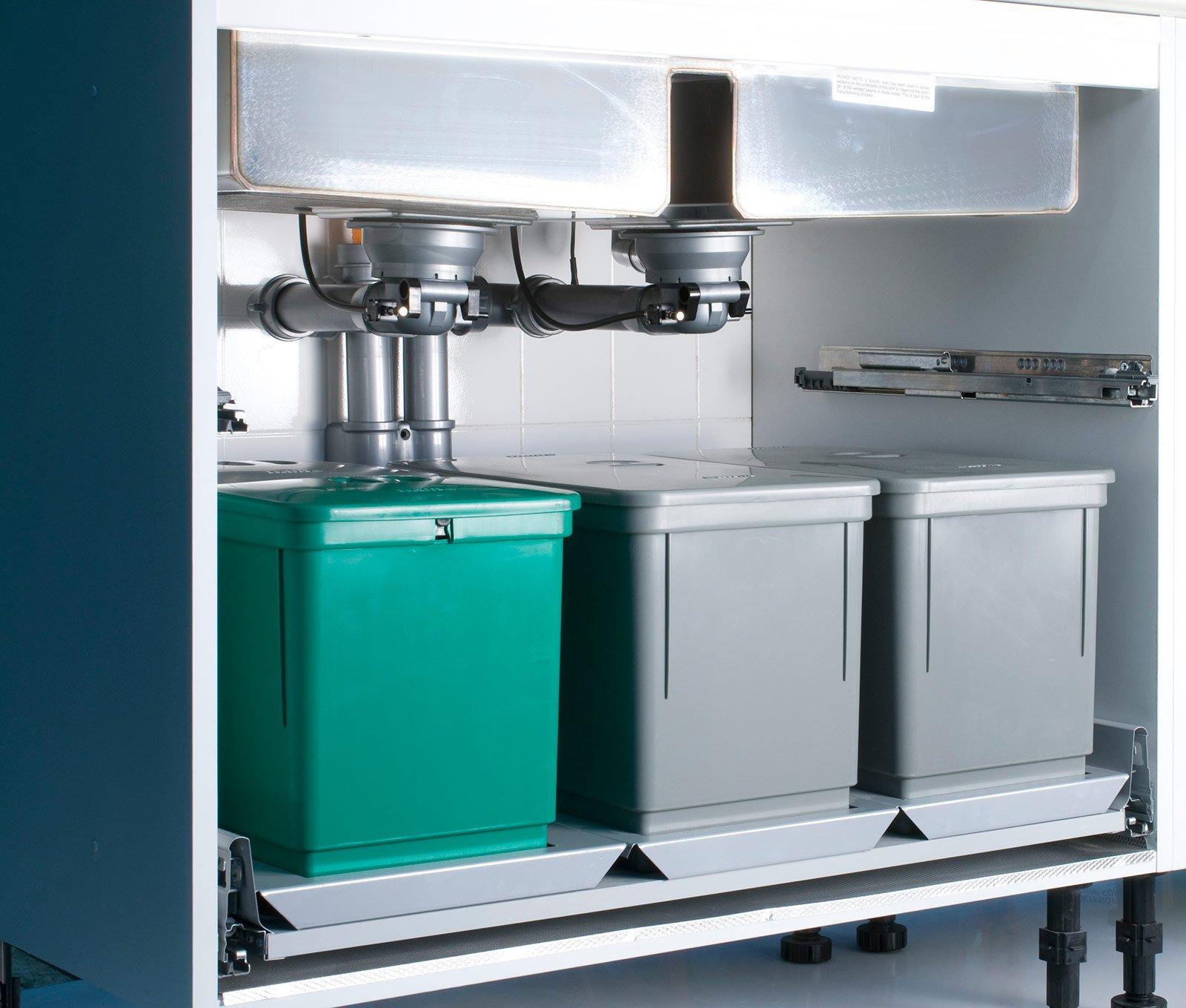 Pi spazio sotto il lavello in cucina cose di casa - Sifone lavandino cucina ...