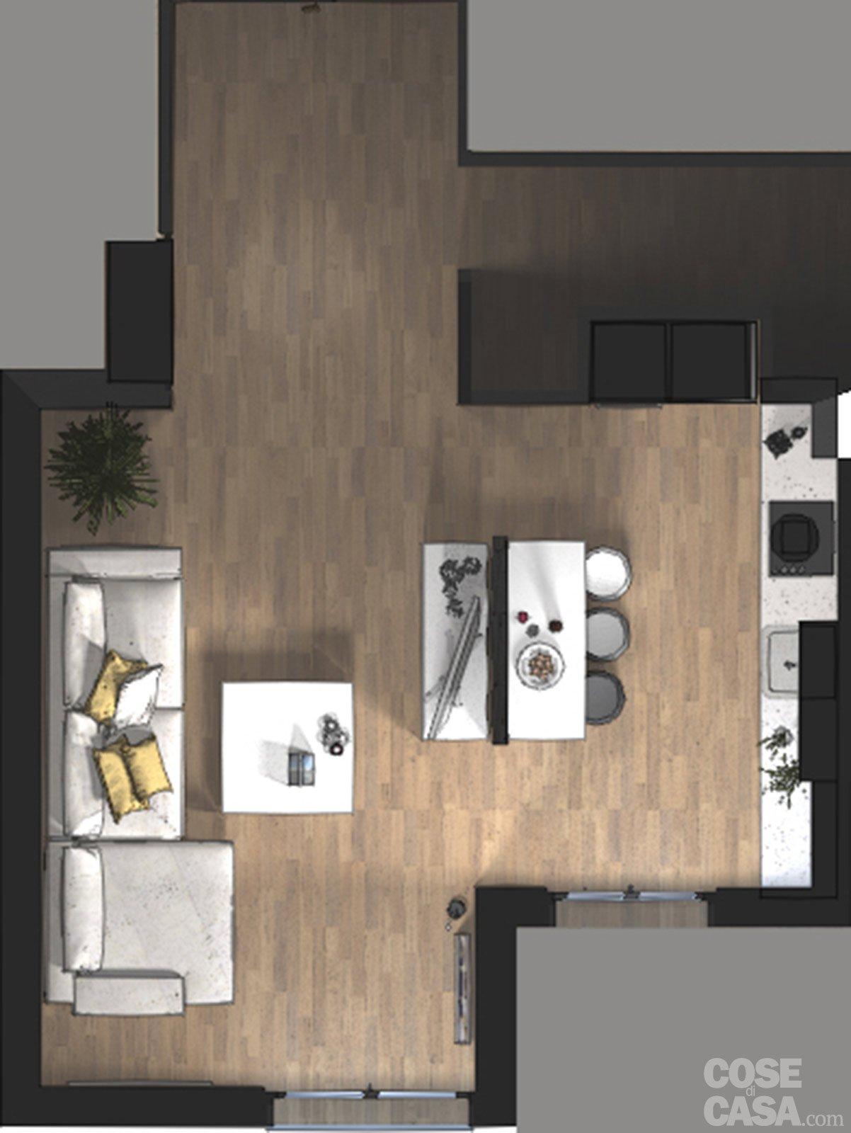 100+ [ come arredare il salotto ]   soggiorni e salotti moderni ... - Soggiorno Living Con Cucina 2