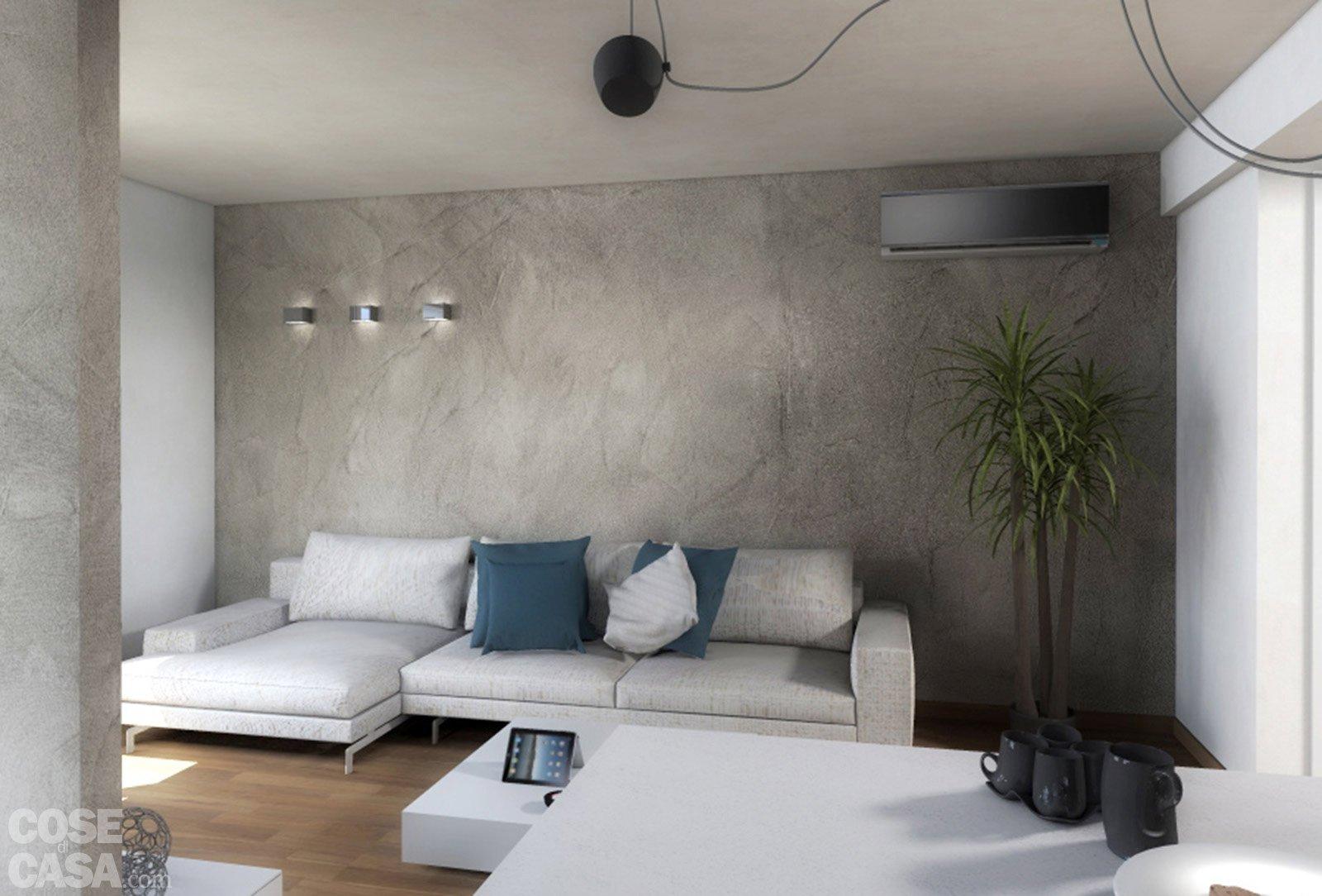 Progetti due soluzioni per un living con piante e for Soluzioni per soggiorno