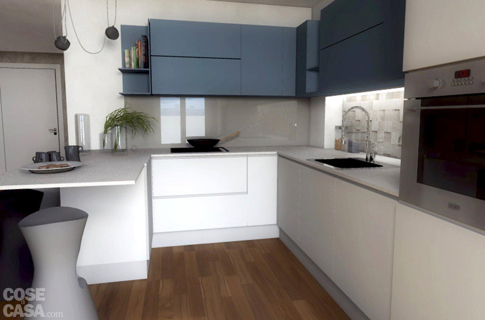 Progetti due soluzioni per un living con piante e for Prospetti di case moderne