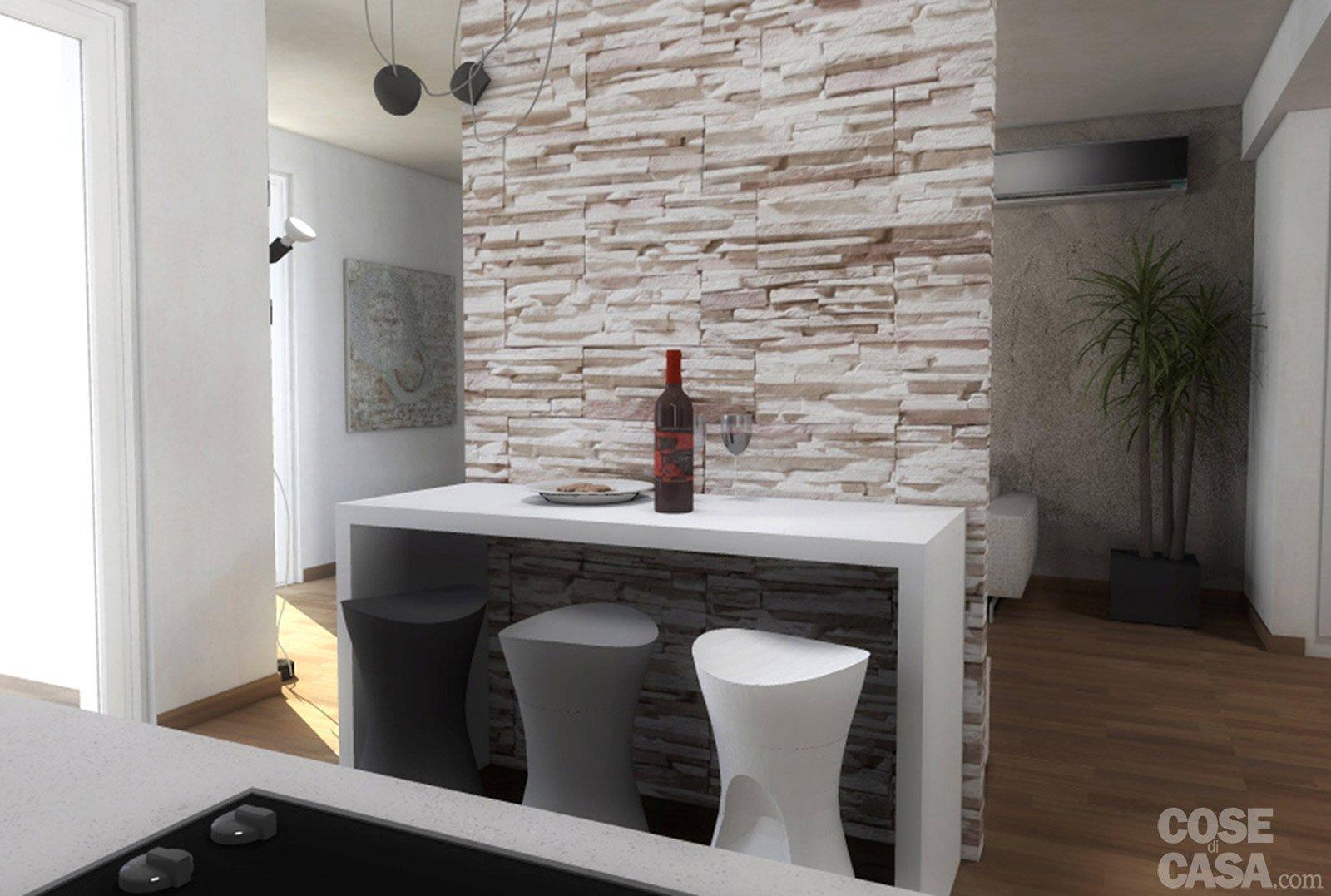 Progetti due soluzioni per un living con piante e - Distanza tv led divano ...